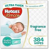 Huggies Ultimate Sensitive Skin Baby Wipes Bundle Pack (Pack of 384)