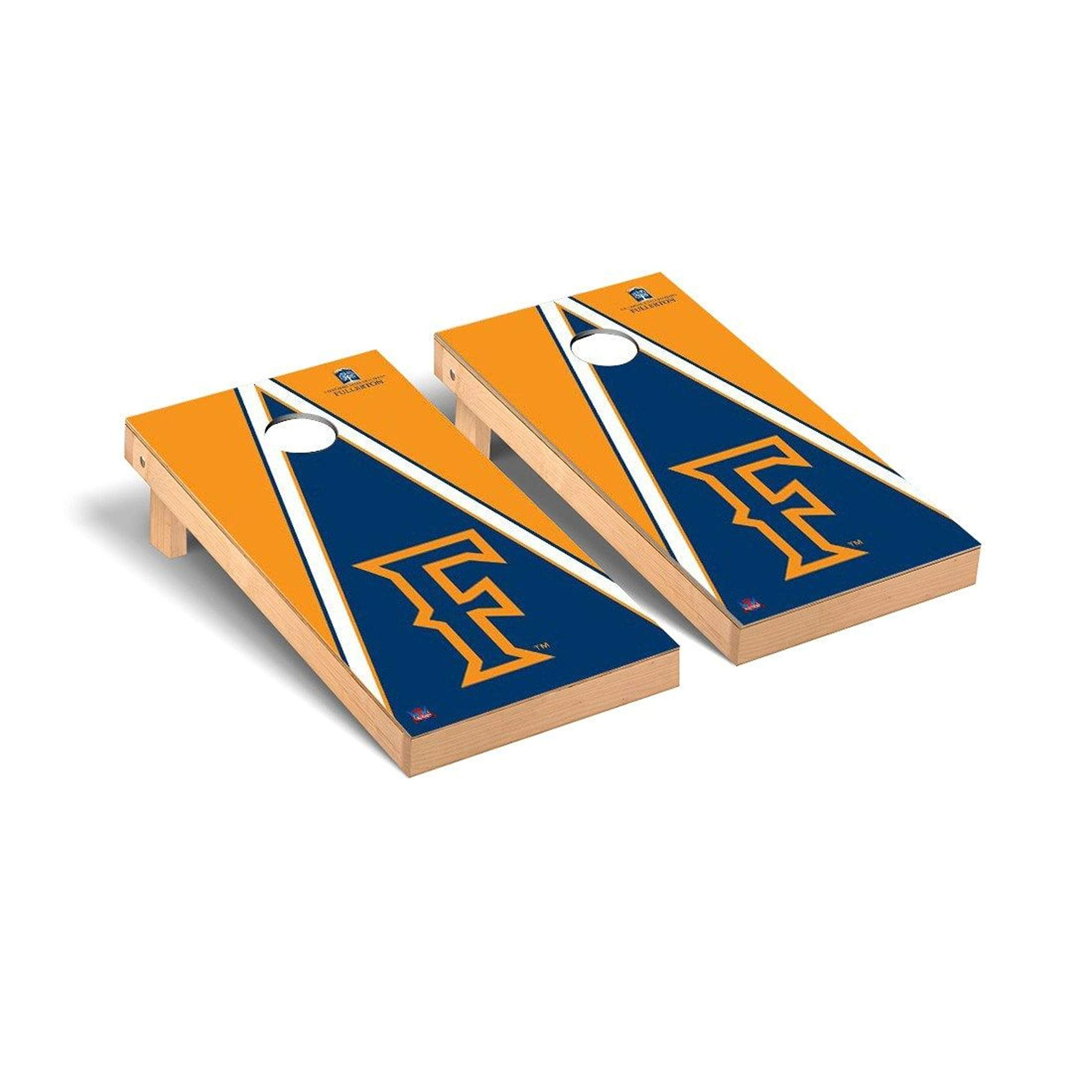 Victory Tailgate Regulation Collegiate NCAA Triangle Series Cornhole Board Set - 2 Boards, 8 Bags - Cal State Fullerton Titans by Victory Tailgate