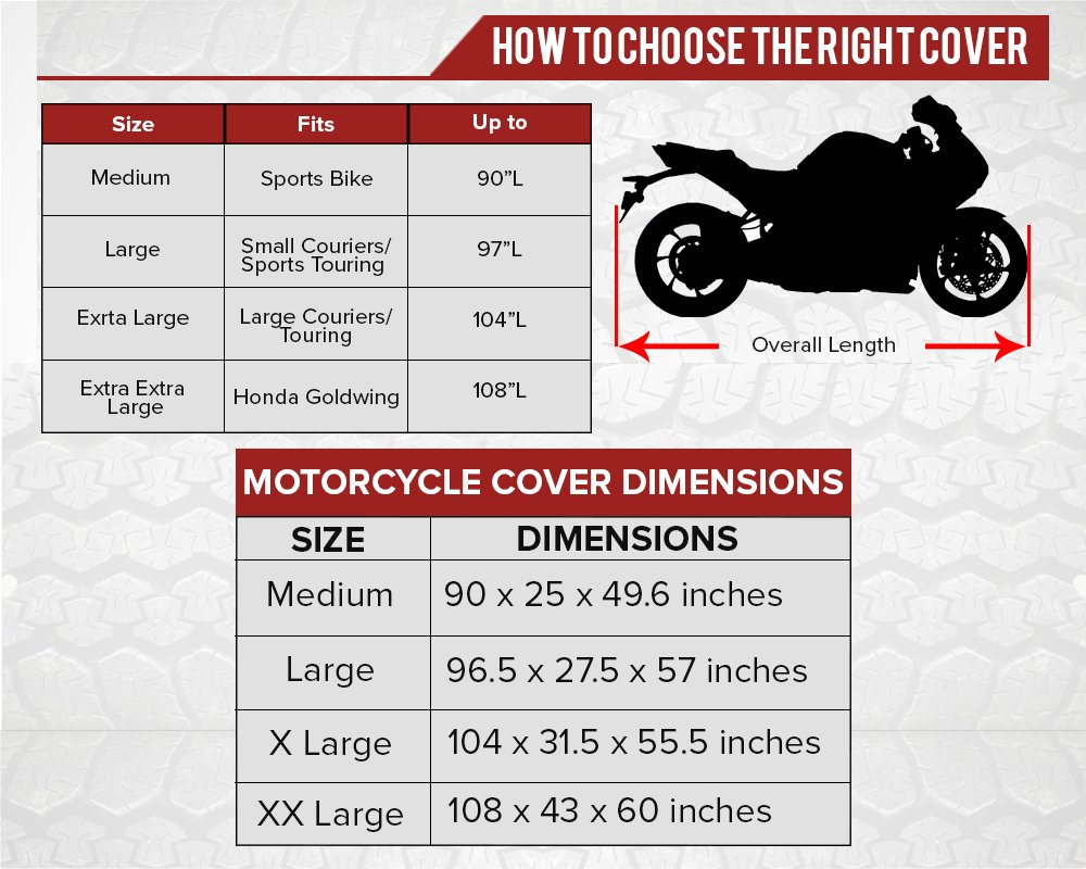 Premium Weather Resistant Covers Waterproof Polyester w/Soft Screen & Heat Resistant Shields.Motorcycle Cover has Lockable fabric, Durable & Long Lasting.Sportbikes & Cruisers (XX-Large, Camouflage) by Nuzari (Image #5)