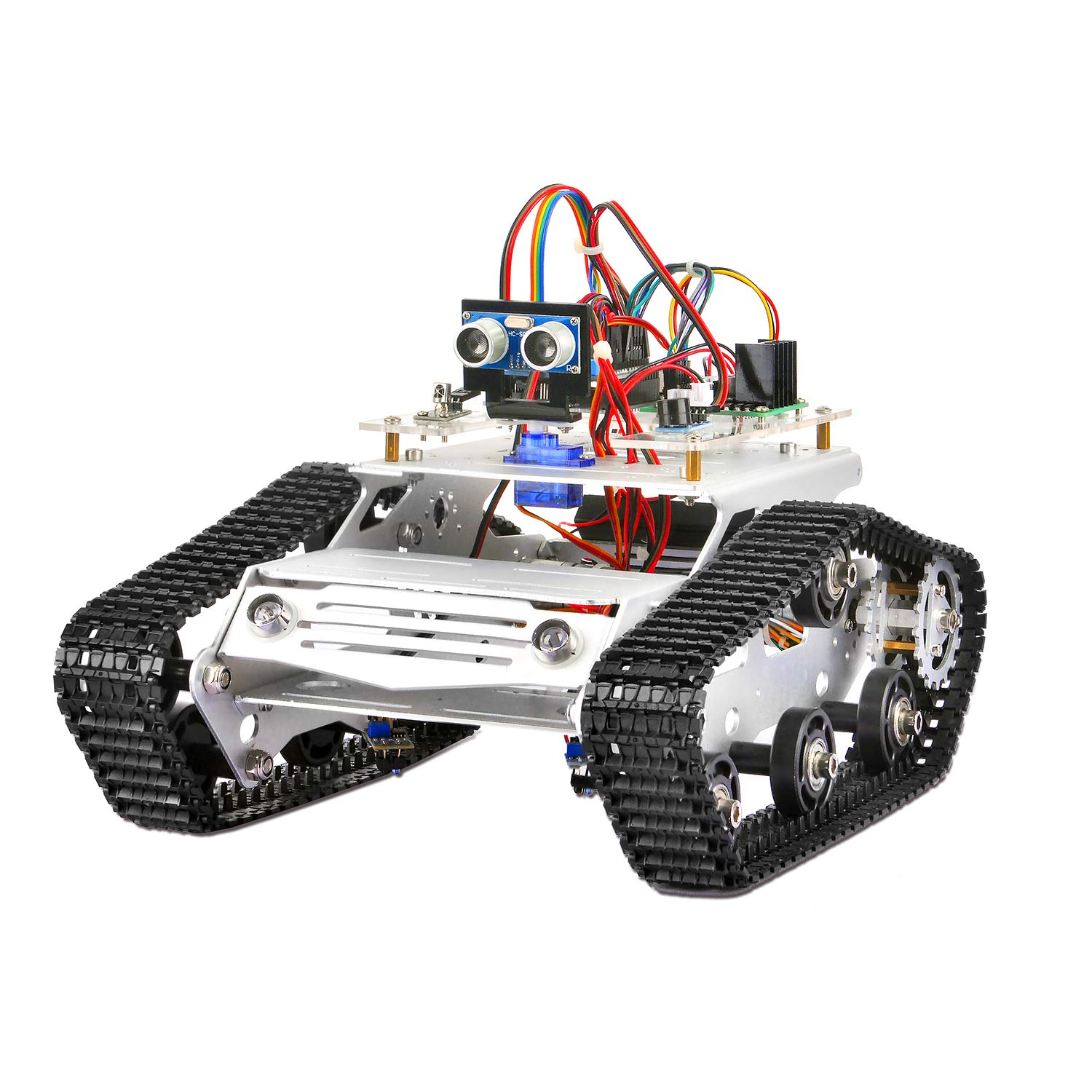 KOOKYE Robot Car Electronics Parts Kit with CD Tutorial for Arduino Tank Platform 2017010700 Tank Chassis NOT Included