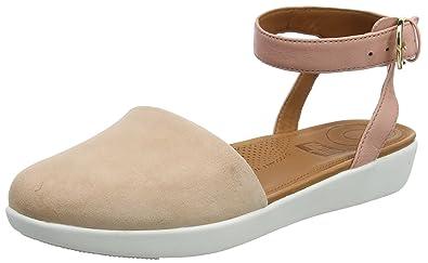 a6c5e3df499 FitFlop Womens Cova Closed Toe Sandals Silver  Amazon.com.au  Fashion