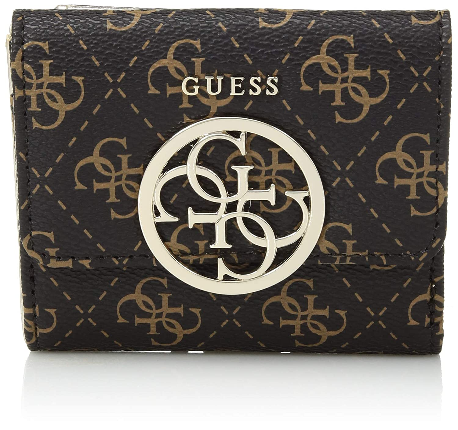 GUESS Kamryn Q Logo Card and Coin Purse Brown SG669144
