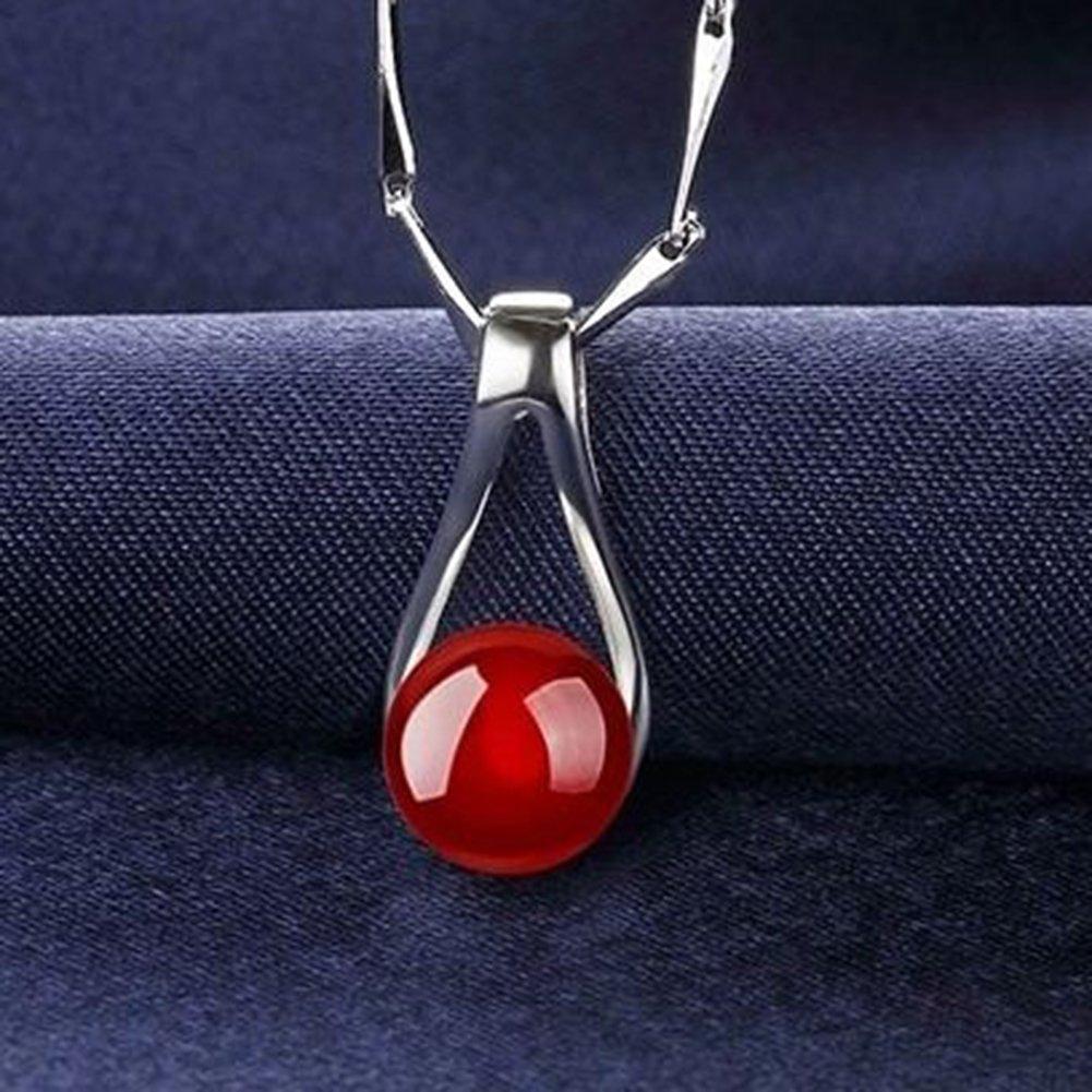 Topdo 1 pieza de /ágata roja colgante sin cadena joyer/ía de moda para mujeres ni/ñas Tama/ño del colgante 1,8 x 0,8 cm regalo para aniversario cumplea/ños San Valent/ín regalo de Navidad