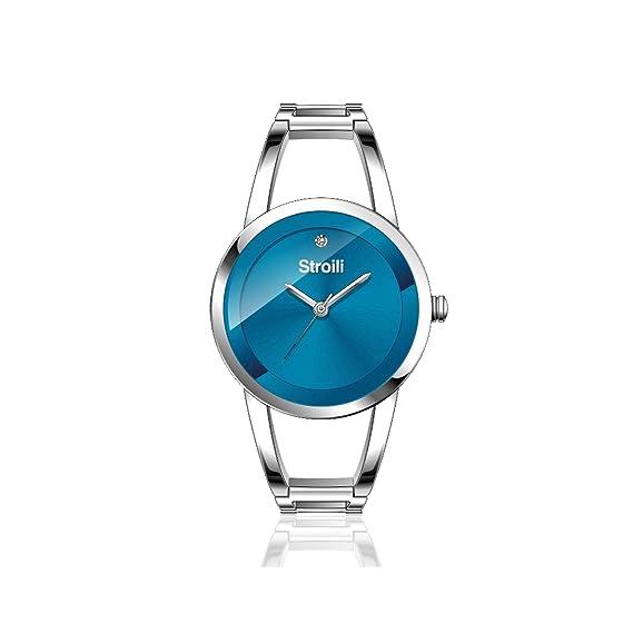 Reloj mujer Stroili solo tiempo caja y pulsera de acero – Esfera Azul Petróleo