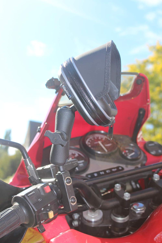 RiderMount Wasserdichte Sonnenblende f/ür GPS mit Universalhalterung f/ür Motorrad und Roller Satnav