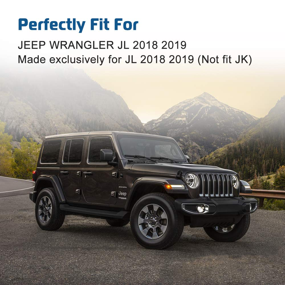 fits 2018 2019 Jeep Wrangler JL A ABIGAIL Multi-Mount Dash Phone Holder with Storage Box for Cell Phones Mini Tablets