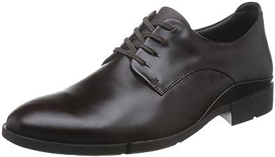 16638d224df9 Clarks Habillé Homme Chaussures Daulton Walk en Cuir Marron: Amazon ...