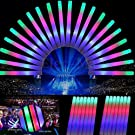 SUNCHI (Pack of 50) 48*4cm LED Colorful Flashing Baton Wands Glow Foam Sticks for Party Festival Concerts Raves Wedding