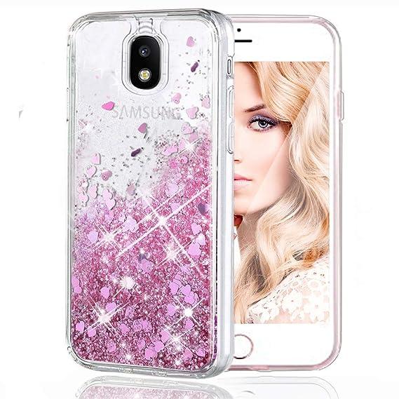 Samsung J3 Case, Profer Galaxy J3 Glitter Sparkling Liquid Cover Case  Flowing Floating Luxury Bling Glitter TPU Bumper Case for Samsung Galaxy J3