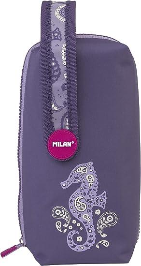 Milan Kit 4 Estuches con Contenido Drops Lila Estuches, 22 cm, Morado: Amazon.es: Equipaje