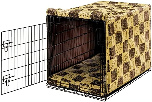 Bowsers Luxury Crate Cover, Large, Dog Days