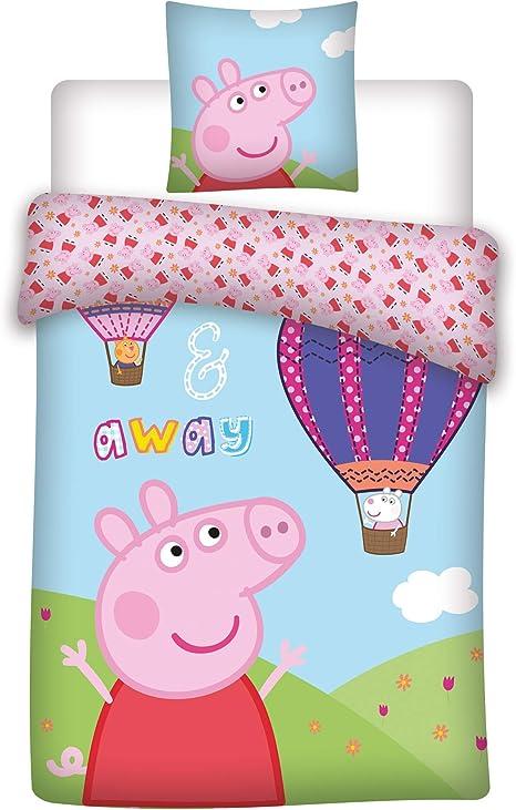037 Peppa Wutz Bettwäsche Peppa Pig Und Der Luftballon
