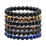 Amazon Price History for:Citled 6Pcs Natual Stone Bracelet Unisex 8mm Beads Lava Bracelet Elastic Handmade