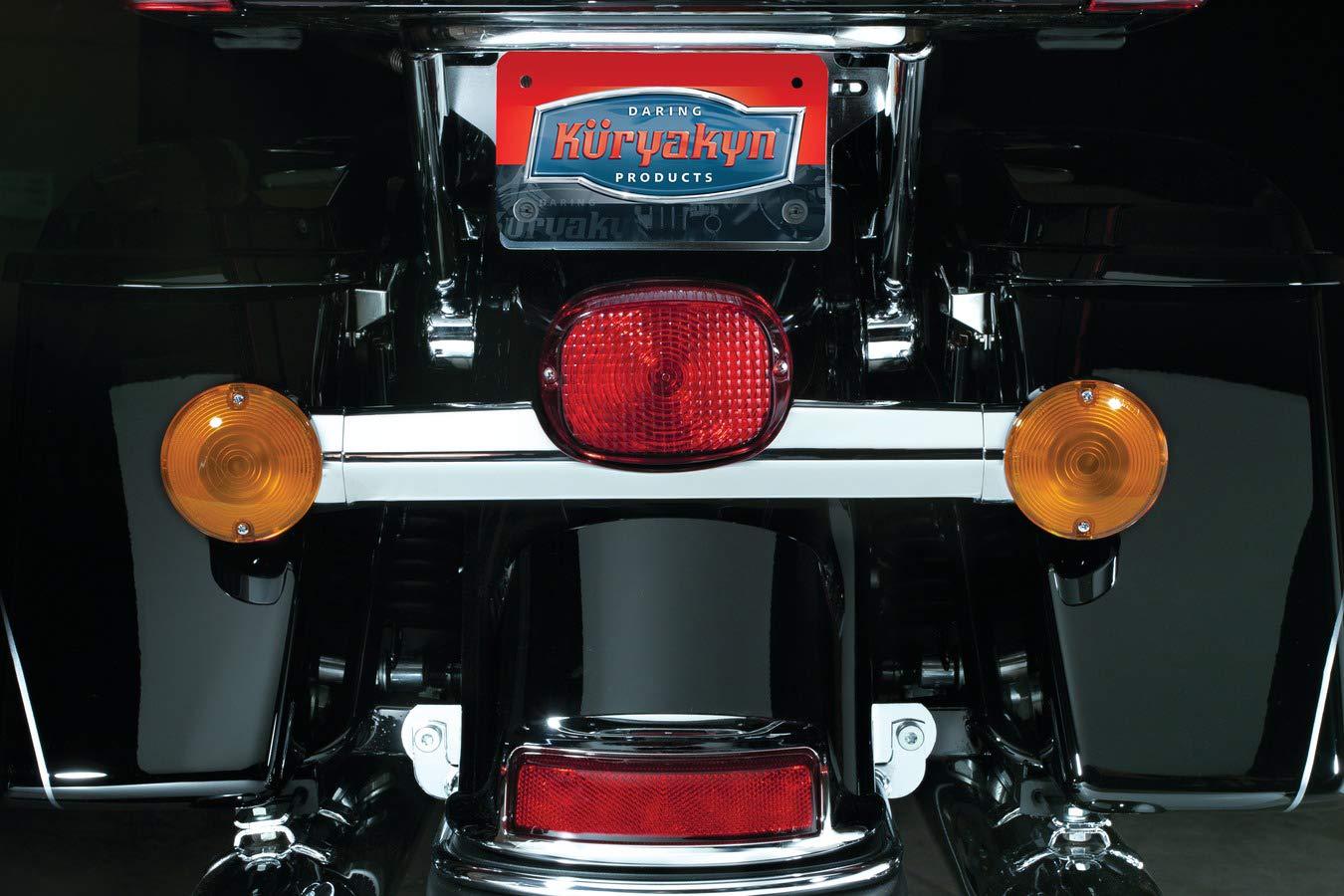 Low Profile Panacea LED Taillight without License Plate Illumination Light for 2009-13 Harley-Davidson Motorcycles Smoke Lens Kuryakyn 5427 Motorcycle Lighting