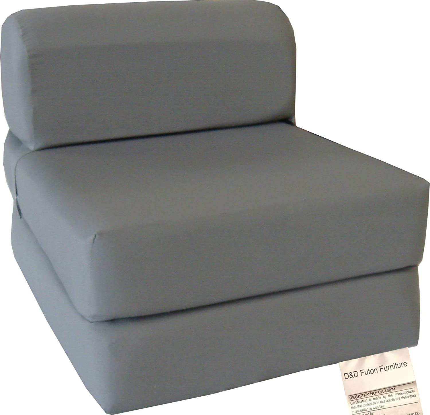 D&D Futon Furniture Gray Sleeper Chair