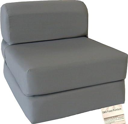 best authentic bd160 0f131 Amazon.com: D&D Futon Furniture Gray Sleeper Chair Folding ...