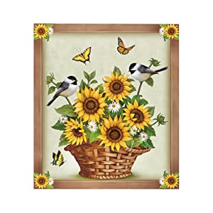 Sunflowers and Birds Dishwasher Decorative Magnet