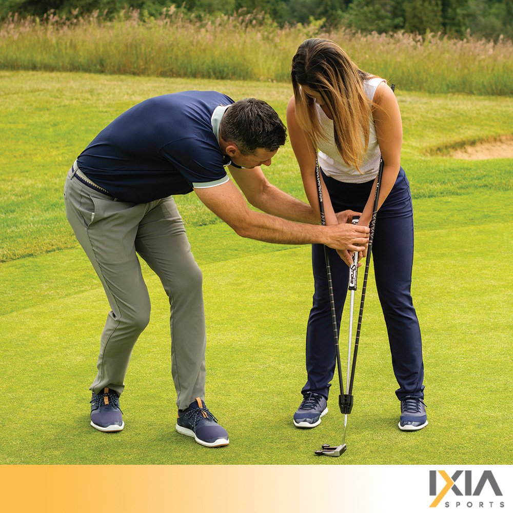 IXIA Sports True Pendulum Motion Golf Putting Trainer - Fits Any Putter - Detachable, Adjustable Length Alignment Rods - Promotes Perfect Posture - For ALL Levels, Juniors & Adult by IXIA Sports (Image #9)