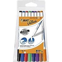 BIC Velleda 1721 ketone whiteboard-marker (ronde punt, 1,5 mm) verpakking à 8 stuks zwart Pouch x 8 gesorteerd