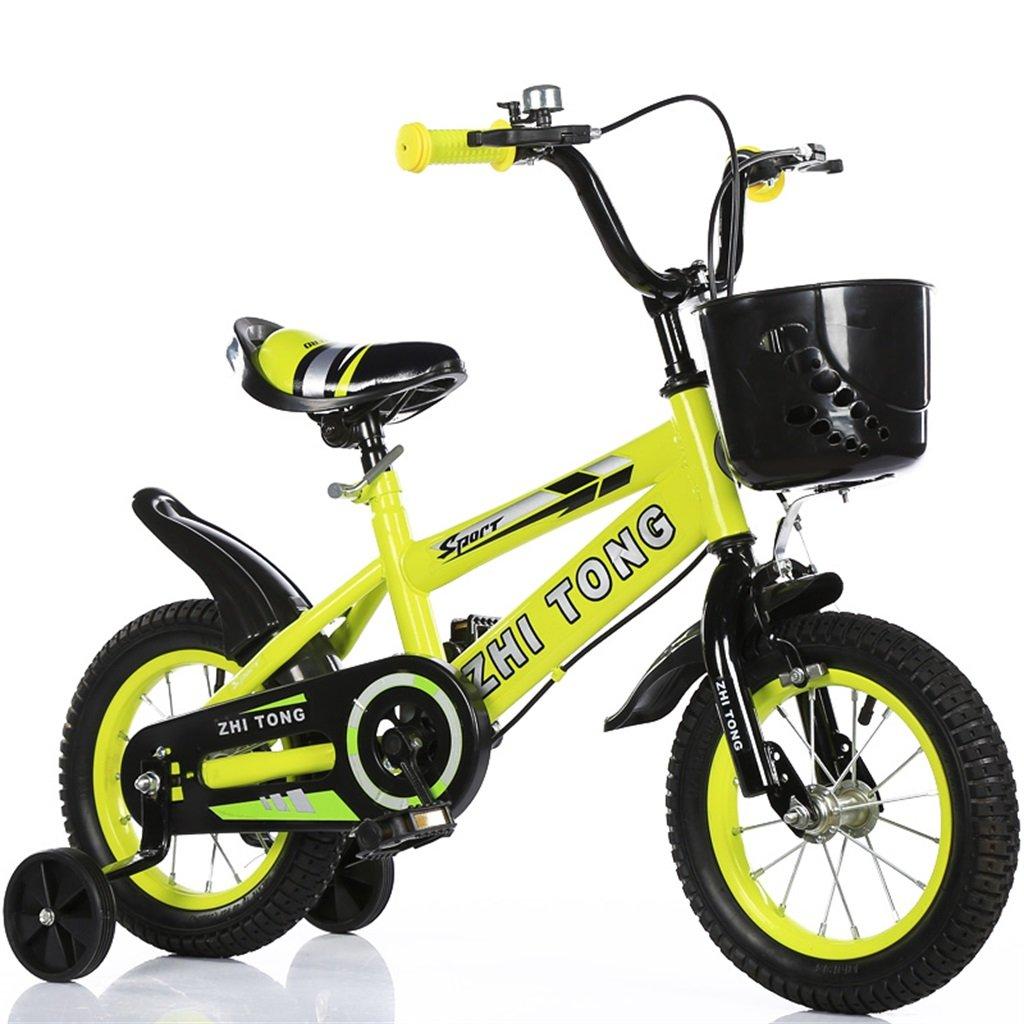 KANGR-子ども用自転車 子供の自転車アウトドアマウンテンバイク2-3-6-8ボーイズとガールズ子供用玩具調節可能ハンドルバー/トレーニングホイール付きサドル-12 / 14/16/18インチ ( 色 : イエロー いえろ゜ , サイズ さいず : 12 inch ) B07BTZFNRK 12 inch|イエロー いえろ゜ イエロー いえろ゜ 12 inch