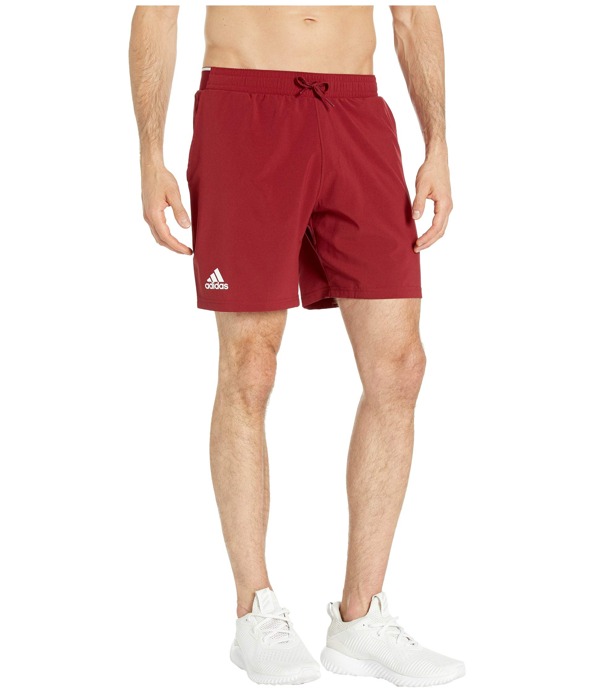 adidas Club 7 Inch Tennis Short, Collegiate Burgundy/Hi-Res Coral, X-Small