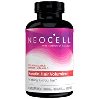NeoCell Keratin Hair Volumizer to Enhance Hair Strength with Grass-Fed Hydrolyzed...