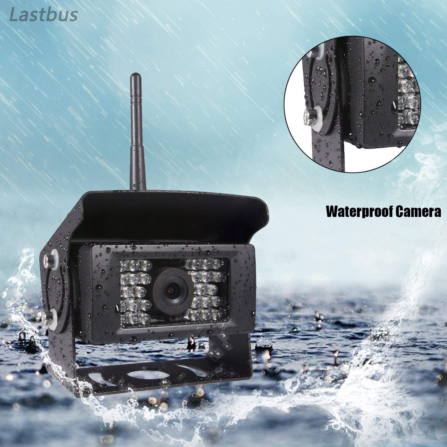 Wireless Backup Camera Lastbus Night Vision Wide View Angle Waterproof WiFi Rear View Camera for iPhone iPad Android Phone Tablet