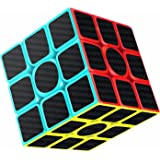 Rubiks Cube, Gritin Magic Cube 3x3x3 Smooth Speed Cube 3D Puzzles Cube With Vivid Color Carbon Fiber Surface - Ultra Durable and Flexible Easy Turning for Brain Training Game or Holiday Christmas Gift