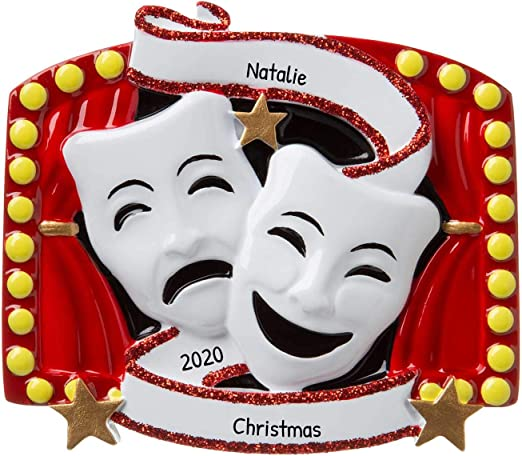 Amazon.com: Personalized New Theater Christmas Tree Ornament 2020