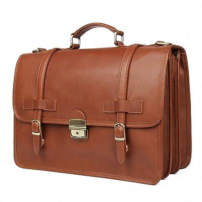Augus Genuine Leather Briefcase Messenger