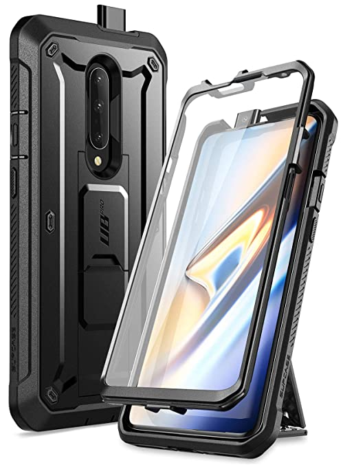 detailed look c9585 4c568 SUPCASE Unicorn Beetle Pro Series Case for OnePlus 7 Pro, Full-Body Rugged  Holster Kickstand OnePlus 7 Pro Case with Built-in Screen Protector (Black)