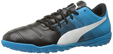 191959ed0 PUMA Men's Evopower 4.3 TT Soccer Shoe, Black/White/Atomic Blue, 9