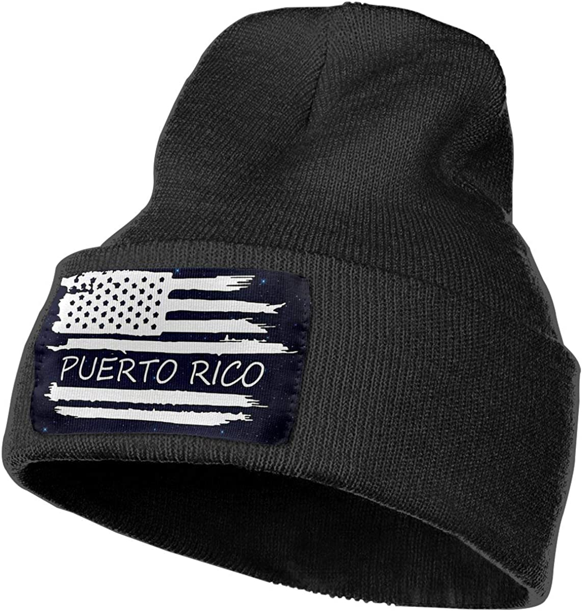 Stretchy /& Soft Winter Ski Skull Cap American Flag Puerto Rico Flag Men /& Women Solid Color Knit Beanie Hat