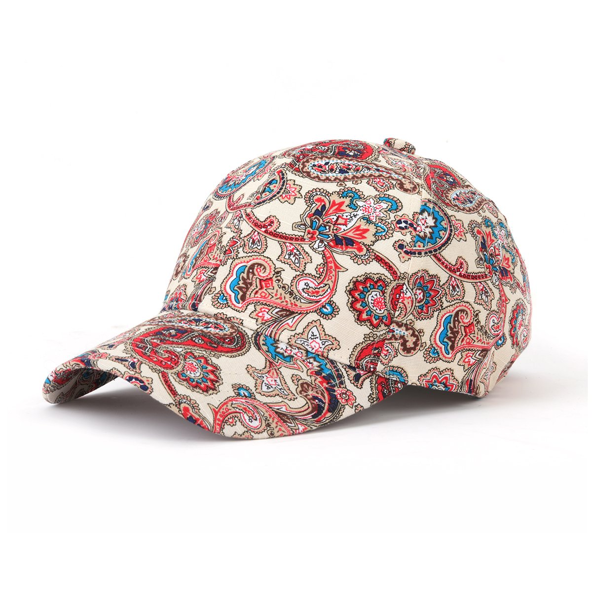 af2ee06fa58 JOOWEN Floral Print Baseball Cap Adjustable 108% Cotton Canvas Dad Hat Hats  for Women (Paisley-Blue)  Amazon.ca  Clothing   Accessories