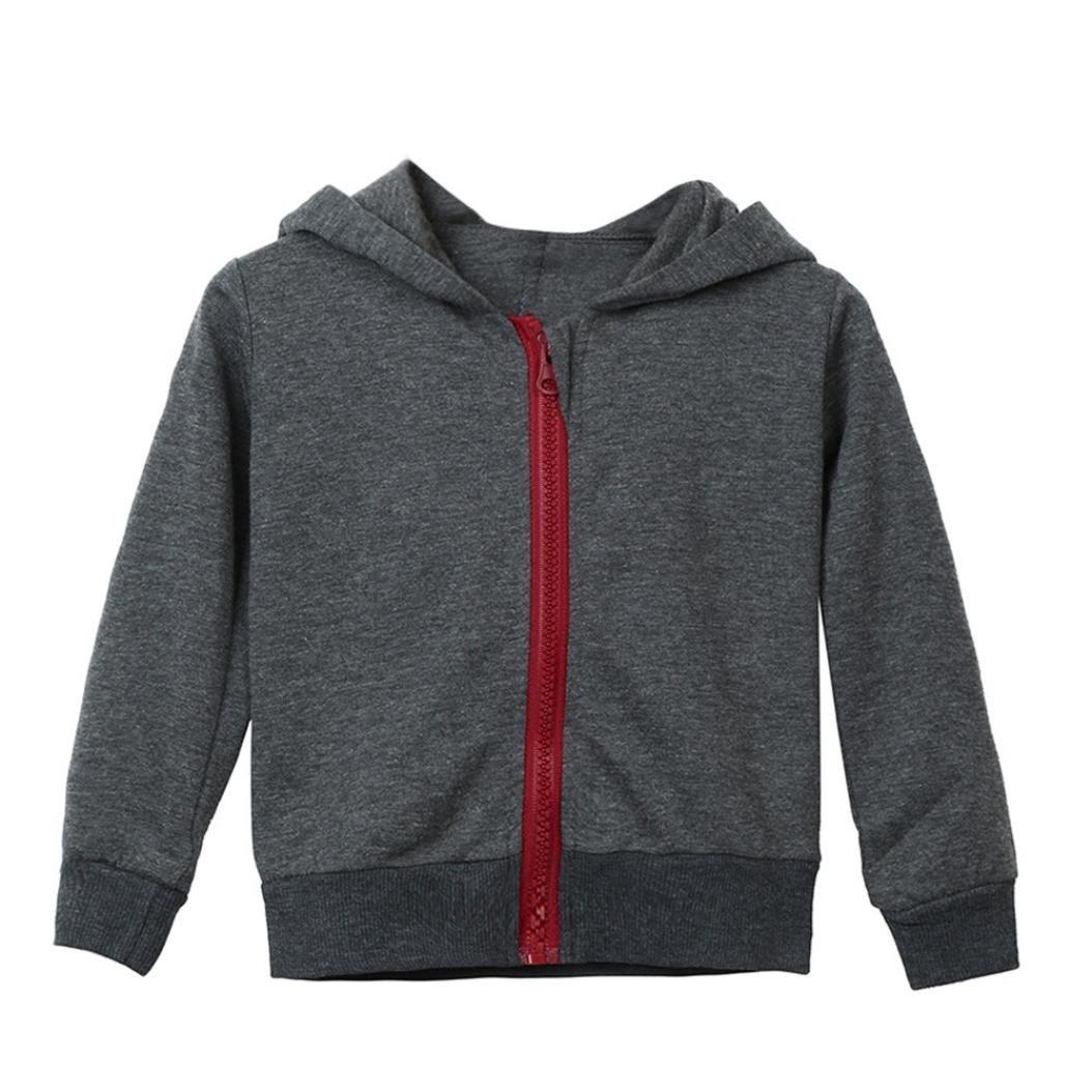 Kehen Baby Boy Dinosaur Zipper Long Sleeve Hoodie Coat Jacket Sweatshirt
