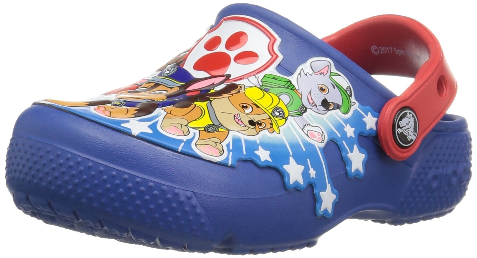 Crocs Boys' funlab Pawpatrol K Clog, Blue Jean, 6 M US Toddler by Crocs