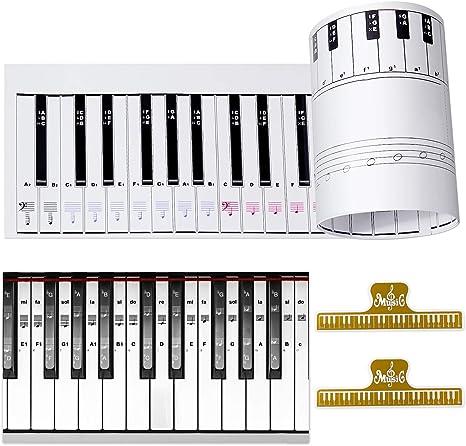 Ultimate Piano Keyboard Learning Aid Set – escala 1:1 88 teclas ...