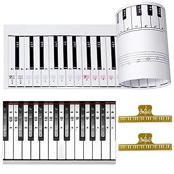 Amazoncom Ultimate Piano Keyboard Learning Aid Set 11 Scale 88