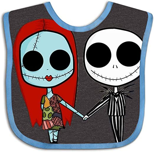 Green ~Cool! Jack Skellington  Baby Bib