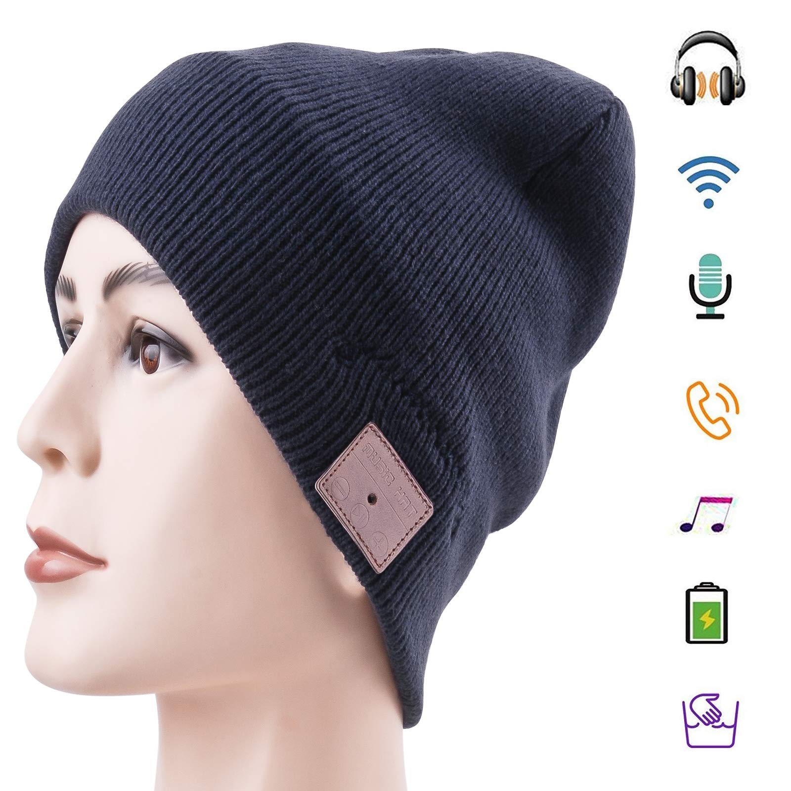 Auriculares Bluetooth Hat Bluetooth Beanie Smart Hat Built-in Stereo Speaker Mic Inalambrico Beanie Sync Call Music para