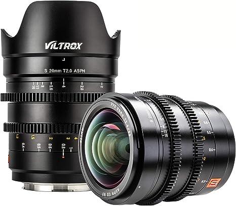 VILTROX S 20mm T2.0 ASPH Objetivo Fotograma Completo Gran Angular Manual Prime Lente de Película para L-montura Cámara Leica SL SL2 / Panasonic S1 S1R S1H: Amazon.es: Electrónica