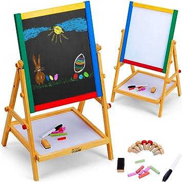 2in1 Maltafel Standtafel Staffelei Schreibtafel Tafel Stifte Spielzeug Kinder