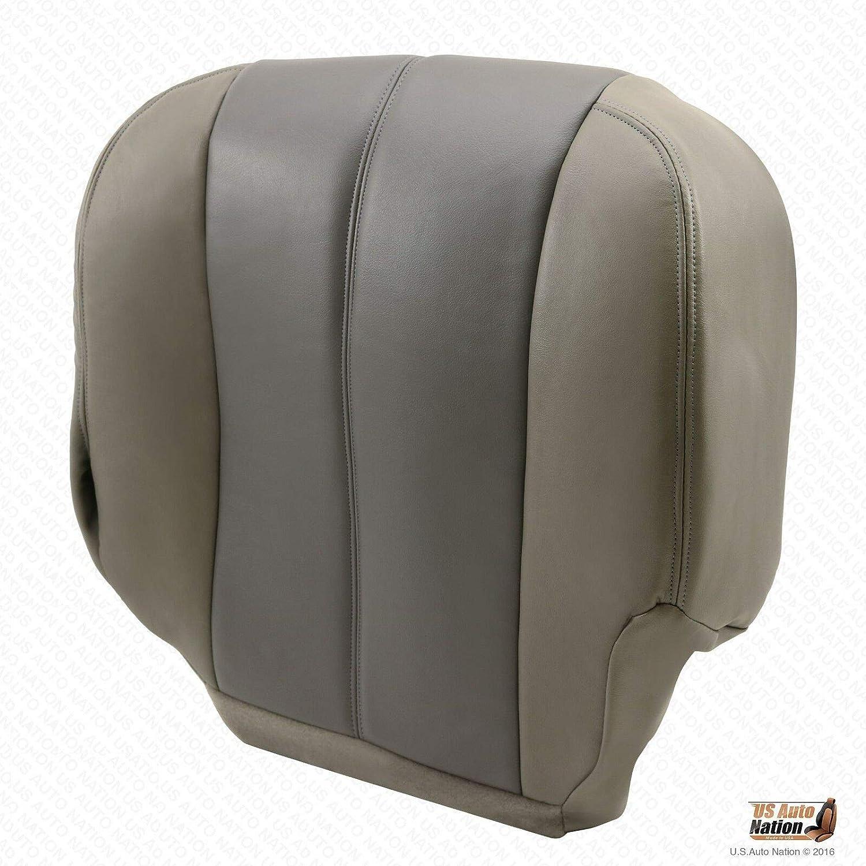 2001 GMC Yukon 1500 Denali Front Driver Bottom Leather Seat Cover 2-Tone Gray