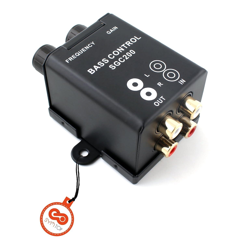 Ecualizador de audio con control de bajos para equipo de sonido estéreo de coche o casa. SYMTOP