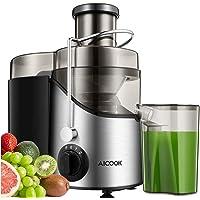 Licuadoras Para Verduras y Frutas, Aicook 3 Velocidades Licuadora Prensado Frio Extractor de Zumos Boca Ancha de 65mm…