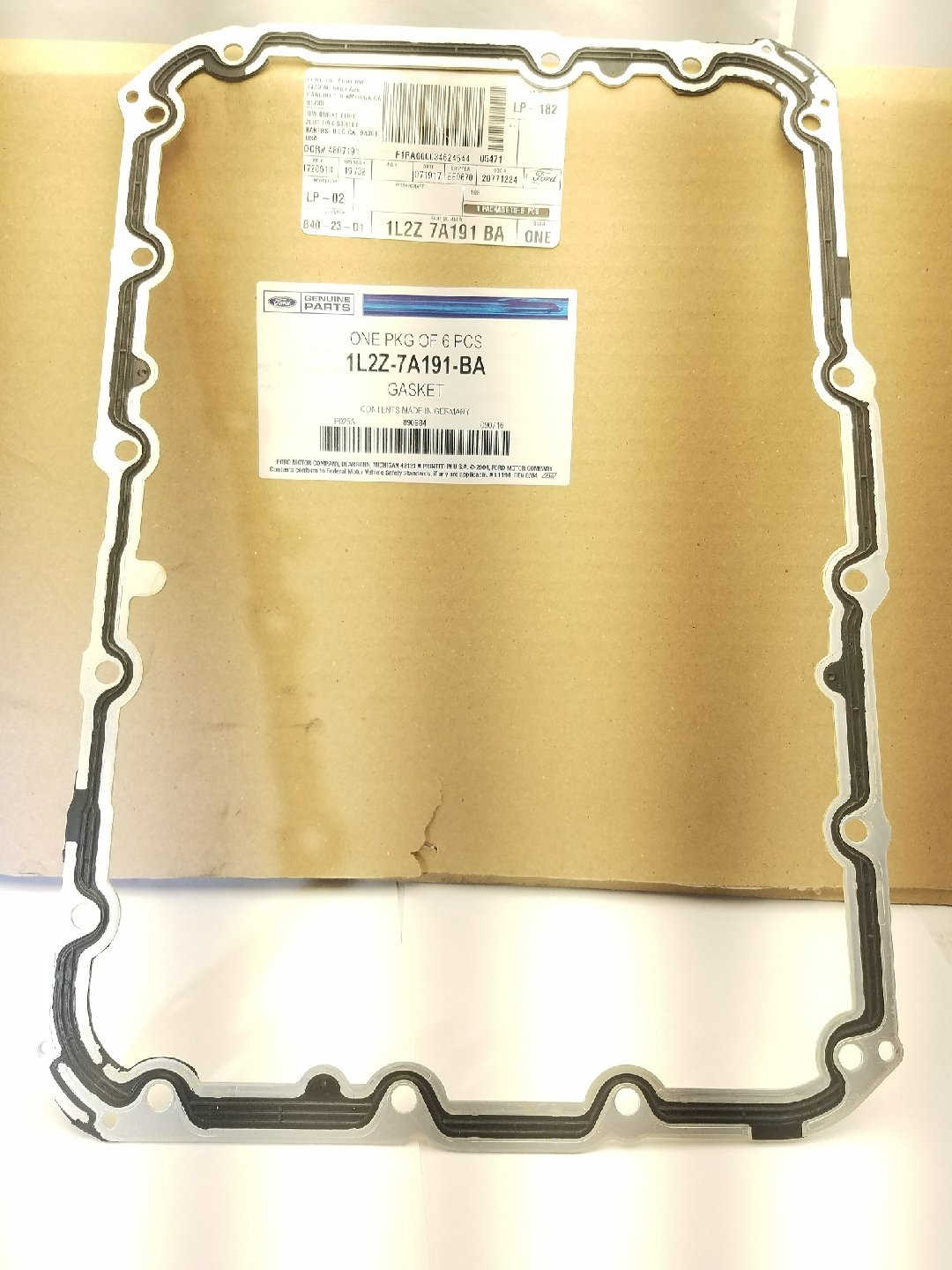 Ford Automatic Transmission Pan Gasket, Part Number 1L2Z7A191BA