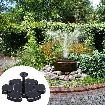 fuente solar bomba de agua de jardín Bomba Micro Fuente flotante Fuente de agua solar Bomba Suspensión exterior Fuente circular circular para jardín pileta para pájaros: Amazon.es: Bricolaje y herramientas