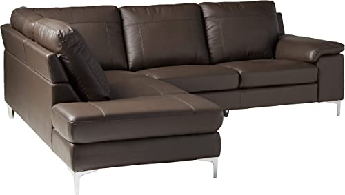 Cortesi Home Dallas Leather Sectional Sofa