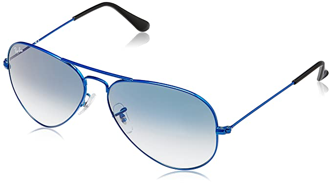 ray ban aviator with blue frame