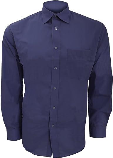 Kustom Kit - Camisa de manga larga para negocios hombre caballero - Fiesta/Trabajo/Eventos